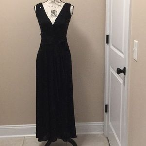 Betsey Johnson black sequins evening gown